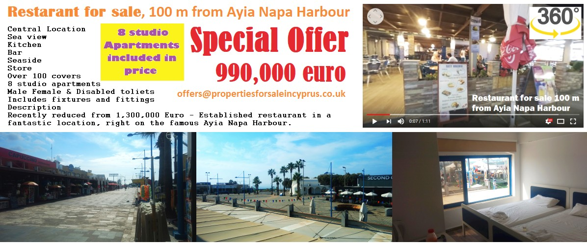 Restaurant for sale in cyprus